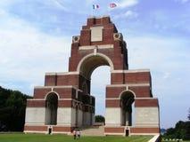 Thiepval WWI militarny cmentarniany Francja Obrazy Royalty Free