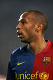 Thierry Henry. Portrait of Thierry Henry during a Spanish soccer league match Stock Photography