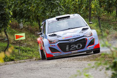 Thierry Neuville at ADAC Rally Deutschland 2014 Stock Images