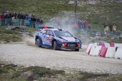 Thierry Neuville, Hyundai Motorsport WRT,  Portugal Rally 2017 Royalty Free Stock Photos