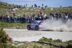 Thierry Neuville Hyundai MotorsportWRT, Portugal samlar 2017 Arkivbild