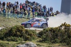 Thierry Neuville Hyundai MotorsportWRT, Portugal samlar 2017 Royaltyfri Bild
