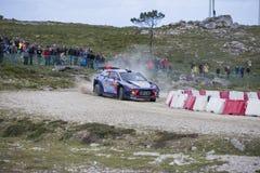 Thierry Neuville Hyundai MotorsportWRT, Portugal samlar 2017 Royaltyfria Bilder