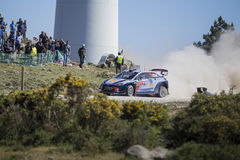 Thierry Neuville Hyundai MotorsportWRT, Portugal samlar 2017 Royaltyfri Foto