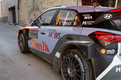 Thierry Neuville's Hyundai in a village Stock Photo