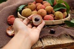 Thieu Vietnam, frutti di Vai del litchi Immagini Stock Libere da Diritti