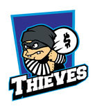 Thieves mascot Stock Photo