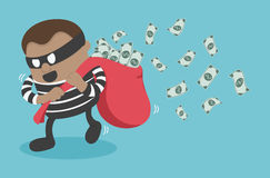 Thieves stealing money Stock Photo