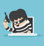 Thieves stole computer data Stock Photography
