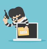 Thieves stole computer data Stock Photos