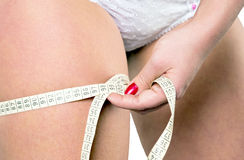 Thigh circumference Royalty Free Stock Images