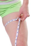 Thigh measurement Royalty Free Stock Photo