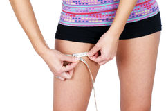 Thigh measurement Stock Images