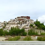 Thiksay修道院在Leh,印度 免版税库存图片