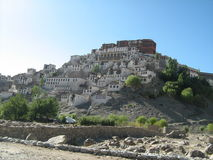 Thiksay monastery building in Ladakh-1 Royalty Free Stock Images