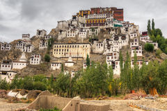 Thiksayklooster, Ladakh, Jammu en Kashmir, India Royalty-vrije Stock Afbeelding