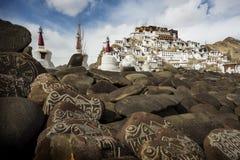 Thikse kloster i Leh, Indien Fotografering för Bildbyråer