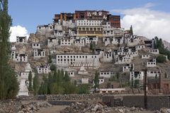Thikse Monastery in Ladakh Stock Photography