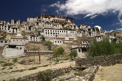 Thiksey buddhist monastery in Ladakh Stock Image