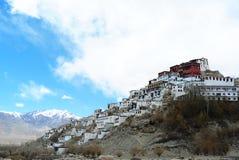 Thiksey-Kloster Gompa in der Trockenzeit, Leh Ladakh, Indien Stockbild