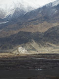 Thiksey kloster i Leh, Indien vinter för blommasnowtid Arkivbilder