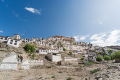 Thiksey Monastery,Leh Ladakh. Thiksay Gompa or Thiksay Monastery is a gompa affiliated with the Gelug sect of Tibetan Buddhism. It is located on top of a hill Royalty Free Stock Images