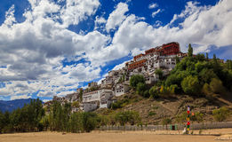 Thiksey Monastery or Thiksey Gompa, Leh Ladakh, Jammu and Kashmi Stock Images