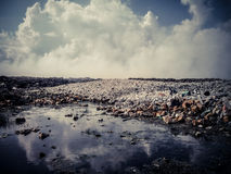 Thilafushi island.Maldives.Garbage dump, plastic mountains 2 Royalty Free Stock Images