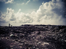Thilafushi island.Maldives.Garbage dump, plastic mountains Royalty Free Stock Photography
