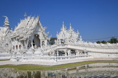 Thiland Wat Rong Khun, White Temple. Wat Rong Khun, White Temple, located in Chiang Rai, Thailand. Wat Rong Khun is a contemporary, unconventional, privately Royalty Free Stock Photography