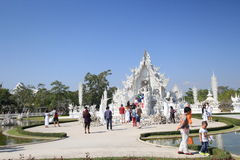 Thiland Wat Rong Khun, White Temple Royalty Free Stock Images
