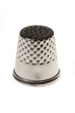 Thimble. Metal sewing tool isolated on white background Royalty Free Stock Photography