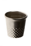 Thimble. Metal sewing tool isolated on white background Stock Photo