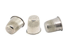 Thimble isolated on white Royalty Free Stock Photography