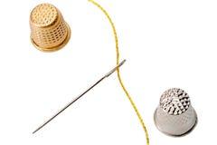 Thimble needle Stock Image