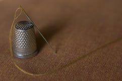 Thimble. Needle Stock Image
