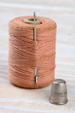 Thimble Needle and Thread Stock Photography