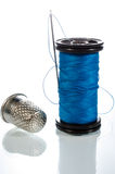 Thimble, Needle and Thread Sewing Kit Royalty Free Stock Image