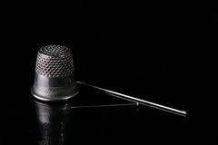 Thimble for protection Royalty Free Stock Photography