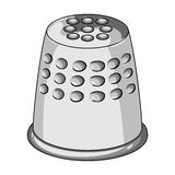 A thimble to protect your fingers when sewing.Sewing or tailoring tools kit single icon in monochrome style vector Stock Photos