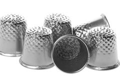 Thimbles Isolated Royalty Free Stock Image
