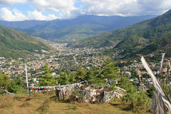 Thimphu - Bhutan. The city of Thimphu, Bhutan, has been built in a valley Royalty Free Stock Photography