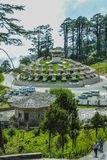 Thimphu, Bhutan - September 10, 2016: Druk Wangyal Khangzang Stupa met 108 chortens, Dochula-Pas, Bhutan Royalty-vrije Stock Foto