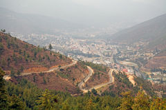 Thimphu, Bhutan. Thimphu view, Bhutan. Thimphu is the capital and largest city of Bhutan royalty free stock photography