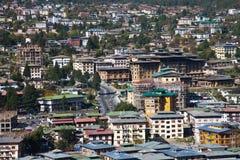 Thimphu, de hoofdstad van Bhutan Stock Fotografie