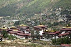 thimphu för bhutan chhoedzong trashi arkivbild