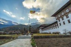 Thimphu flagi ceremonia obraz stock