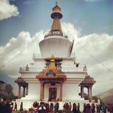 Thimphu minnesmärke Chorten Royaltyfria Bilder