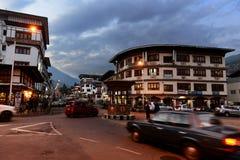 Thimpu in Bhutan Stockfotos