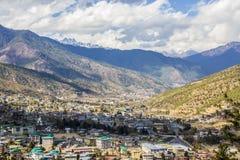Thimpu cityscape Royaltyfri Foto